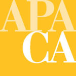 yellow APA California logo