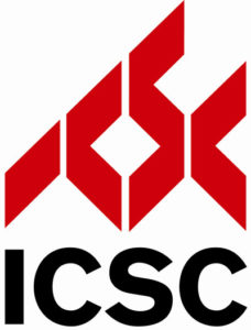 black and red ICSC logo